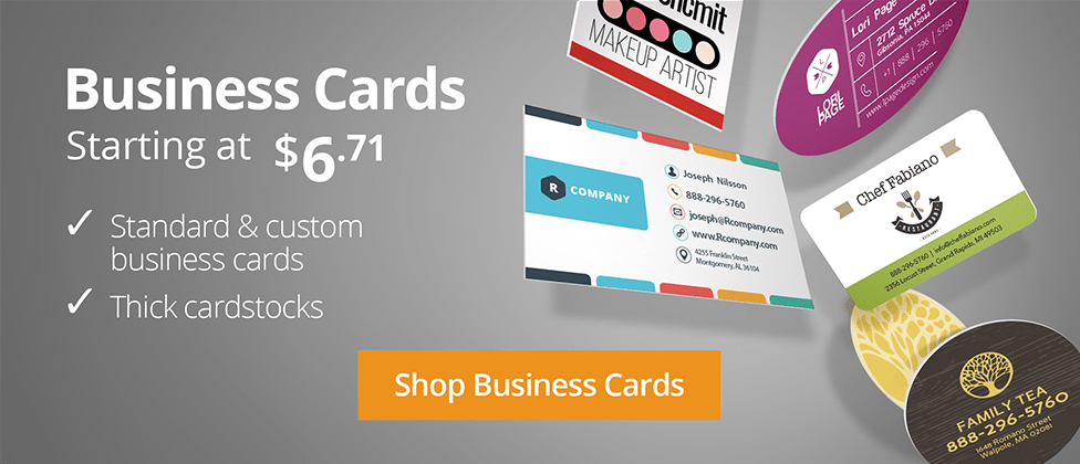 Online printing services printrunner for Custom business cards printing