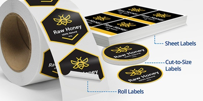 Custom Labels Cut To Size Label Printing Free Shipping