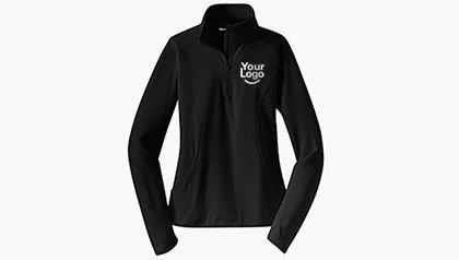 Ladies' Sport-Wick® Stretch 1/2-Zip Pullover