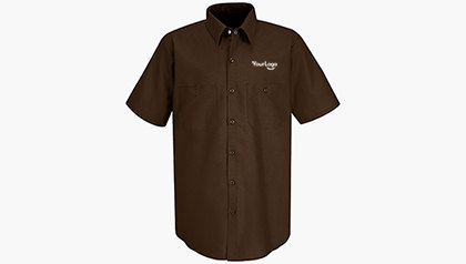 Men's Half Sleeve Red Kap Work Shirt