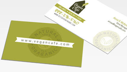 Business cards custom call cards for businesses printrunner standard business cards reheart Gallery
