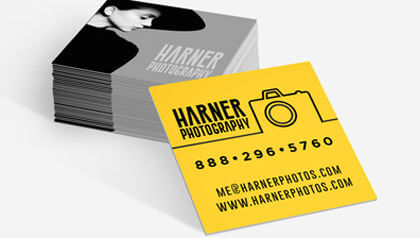 Business cards custom printing of standard and square business square business cards reheart Image collections