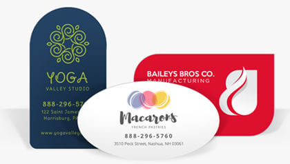 Business cards custom call cards for businesses printrunner die cut business cards flashek Gallery