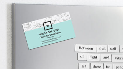 Business cards custom printing of standard and square business business card magnets reheart Gallery