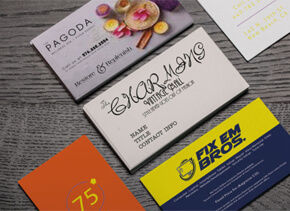 Business cards printing custom options available printrunner 4 characteristics of a bad business card design colourmoves