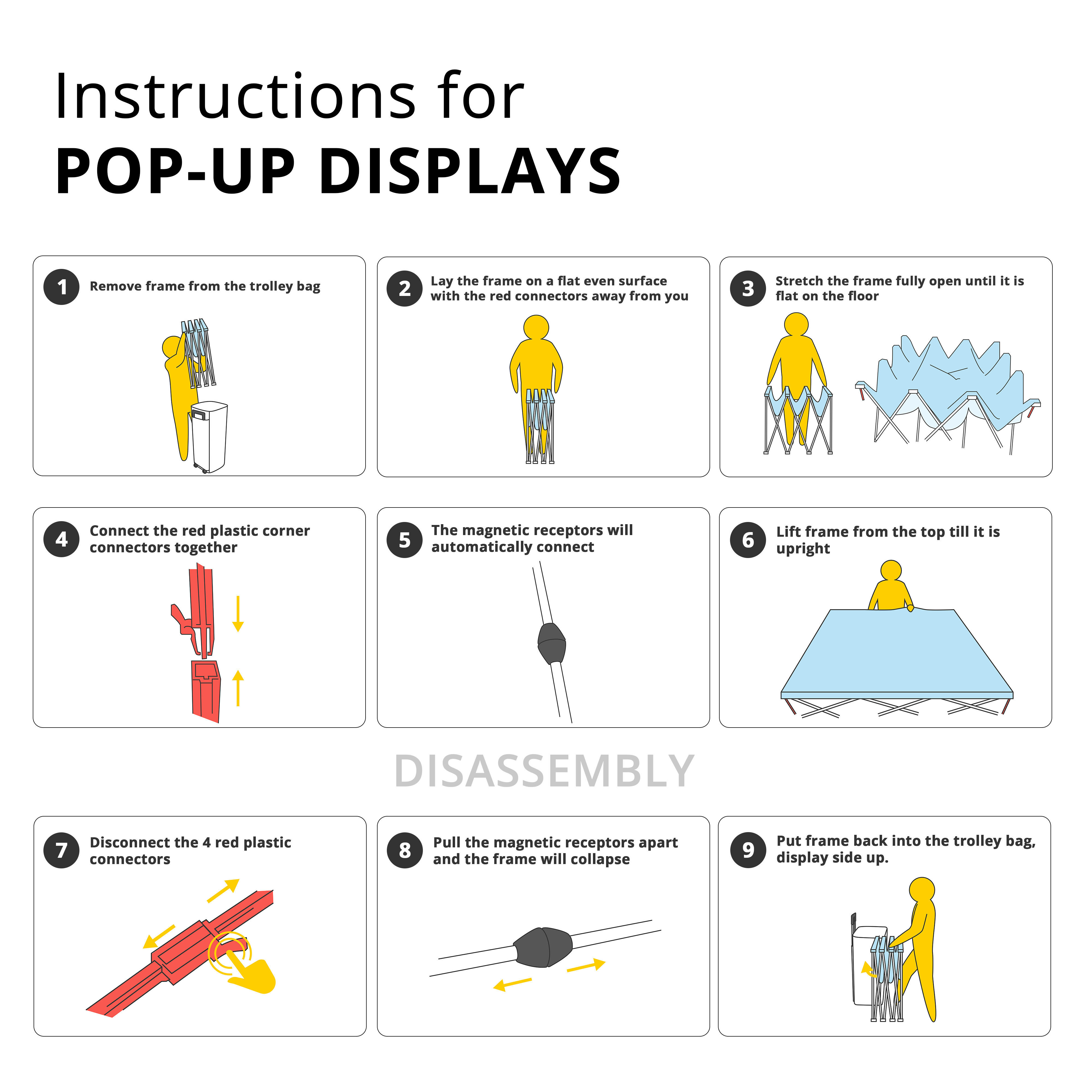 pop up display instructions