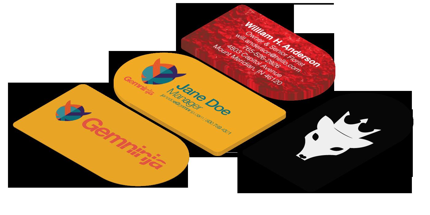 Circle business cards half circle business cards magicingreecefo Choice Image