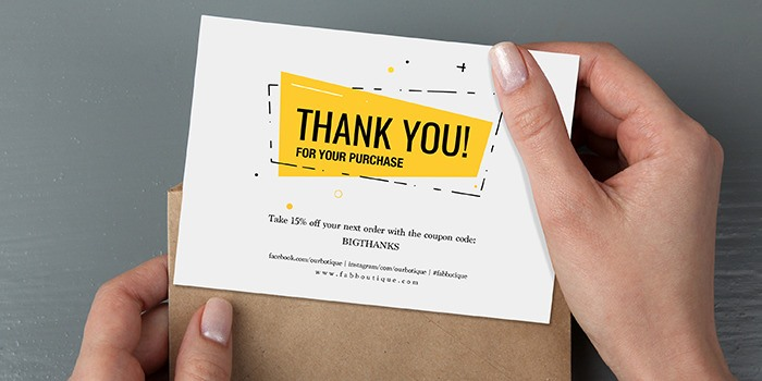 Thank You Cards Print Custom