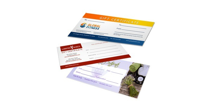 gift certificates - Custom Gift Cards For Business