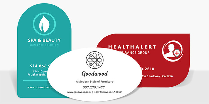 die cut business cards - Circle Business Cards