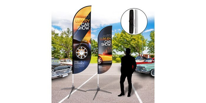 Custom Feather Flags Outdoor Banners PrintRunnercom - Car show flags