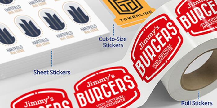 Custom sticker formats