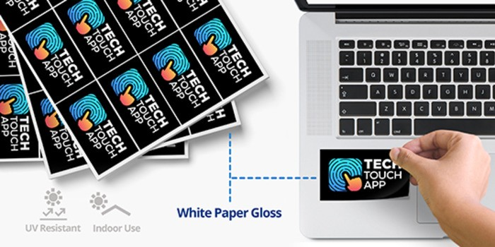 Cut to size sticker with application