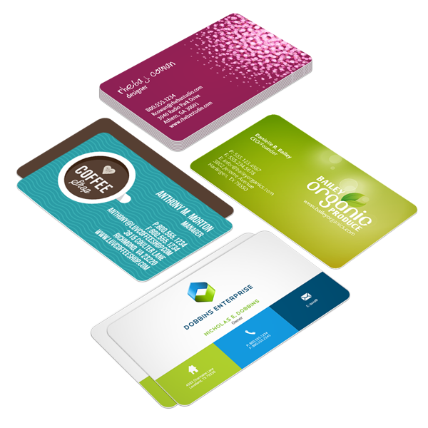 Round corner business cards printrunner reheart Images